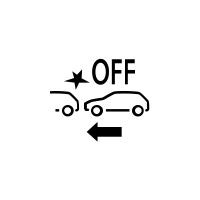 (Fahrzeugabhängig) Anzeige für Ausfall oder Nichtverfügbarkeit des Notbremsassistenten